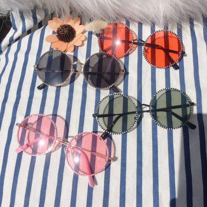 2019 Brand Children Boy Girl Metal Frame Goggles Sunglasses New Fashion Kids Popular Bling Outdoor Glasses Eyewear Holiday Beach