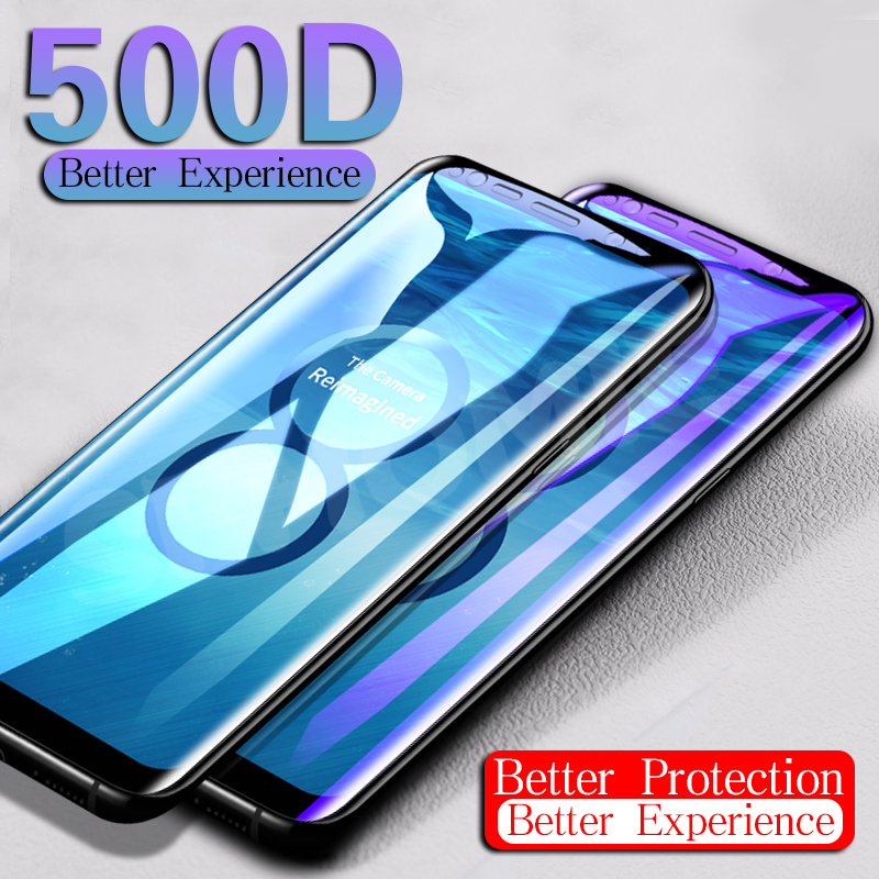 500D Full Curved Tempered Glass For Samsung Galaxy S9 S8 Plus S7 Edge Screen Protector For Samsung Note 8 9 S8 Protective Glass