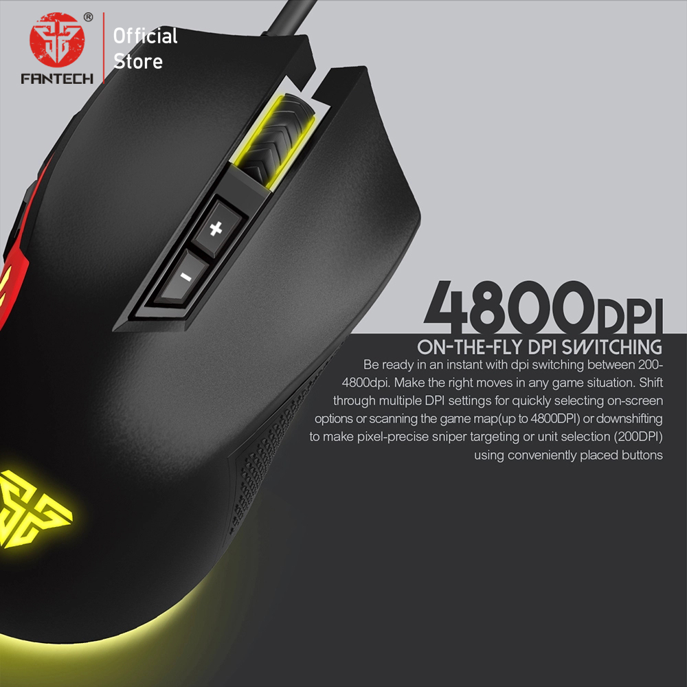 Image 3 - FANTECH X15 Optical Wired Gaming Mouse Adjustable 4800 DPI 20 million cycle 7 Button Macro Professional mouse gamer for pc game-in Mice from Computer & Office