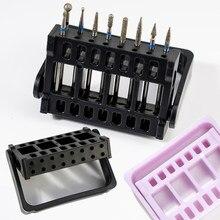 1 sztuk uchwyt do wiertła do paznokci przechowywania 16 otwory regulowana głowica szlifująca Bit półka pudełeczko z akrylu akcesoria do Manicure narzędzia UHY