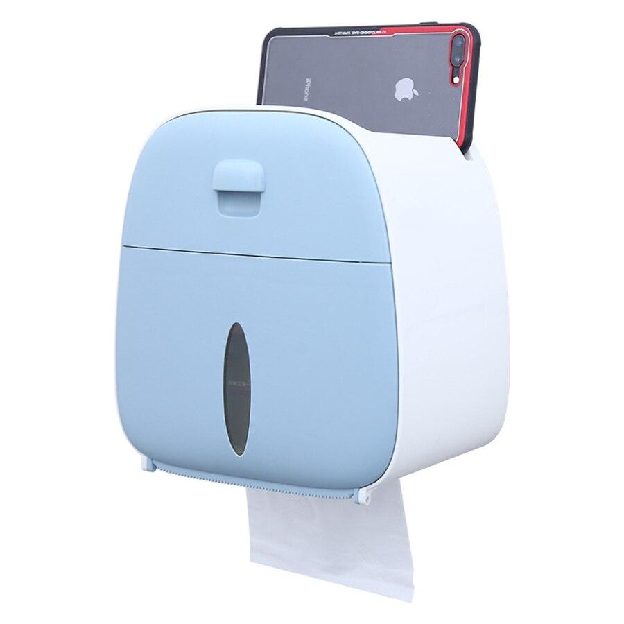 Toilet Paper Holder Waterproof Tissue Box Plastic Toilet Paper Holder Wall Mount Bathroom Organizer Storage Box Napkin Dispenser