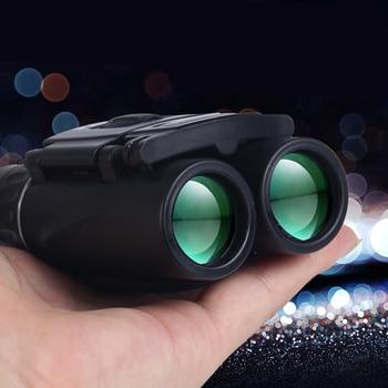 цена на 40X22 Binoculars Telescope Low light night vision Outdoor Portable Binocular High Power HD Telescope for hunting professional