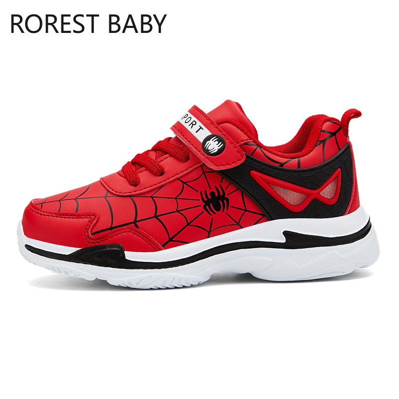 Winter Kids Sports Shoes Children Casual Leather Boys Sneaker Fashion Girls Student Boots Spider-Man Boys Brand Sneakers