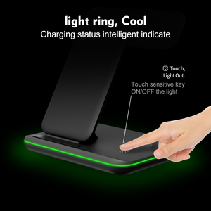 Image 2 - Qi Wireless Fast Charger Charging Pad Stand Dock 15W For Iphone 11 Pro Max Apple Watch 4 3 2 Airpods Station Chargeur Induction