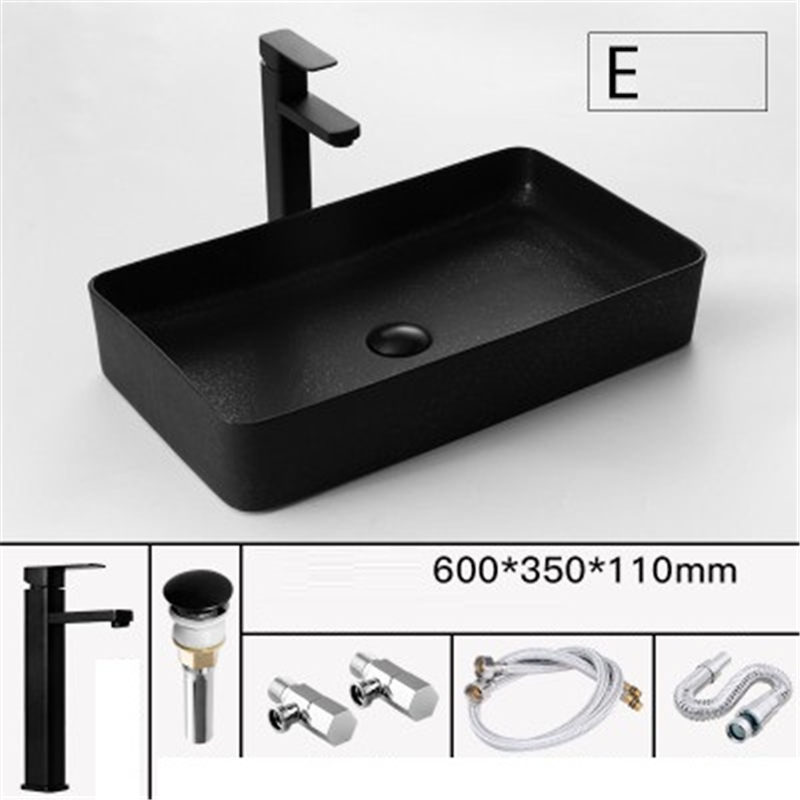 Bassin Umywalka Nablatowa Bathroom Lavandino Bagno Lavatory Wasbak Para Pia Black Lavatorio Cuba Banheiro Lavabo Sink Wash Basin