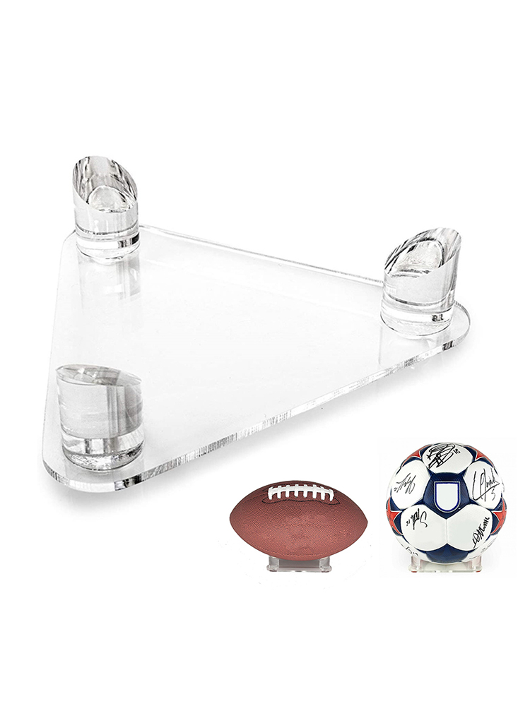Supporto per espositore a triangolo in acrilico Deluxe supporto per espositore a triangolo in acrilico per palloni da calcio pallacanestro pallavolo