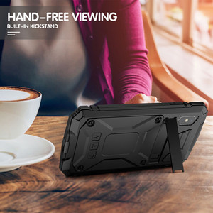 Image 5 - הלם קליטה מגן מקרה עם Kickstand עבור iPhone 11 2019 מתכת אלומיניום אבק הוכחה טלפון כיסוי עבור iPhone X XS Max XR