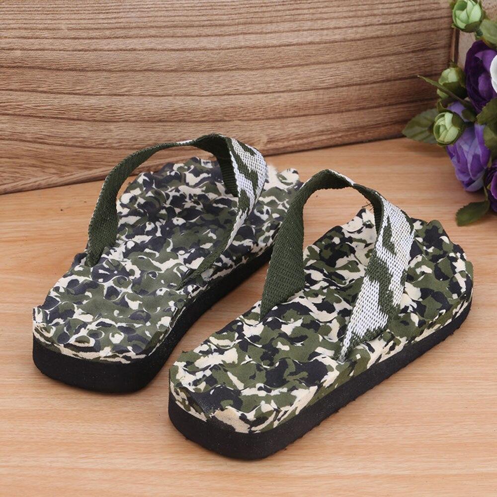 Mnycxen Men Slippers Summer Camouflage Non-slip Flip Flops Shoes Slipper Indoor & Outdoor Flip-flops Slippers Zapatillas Z90