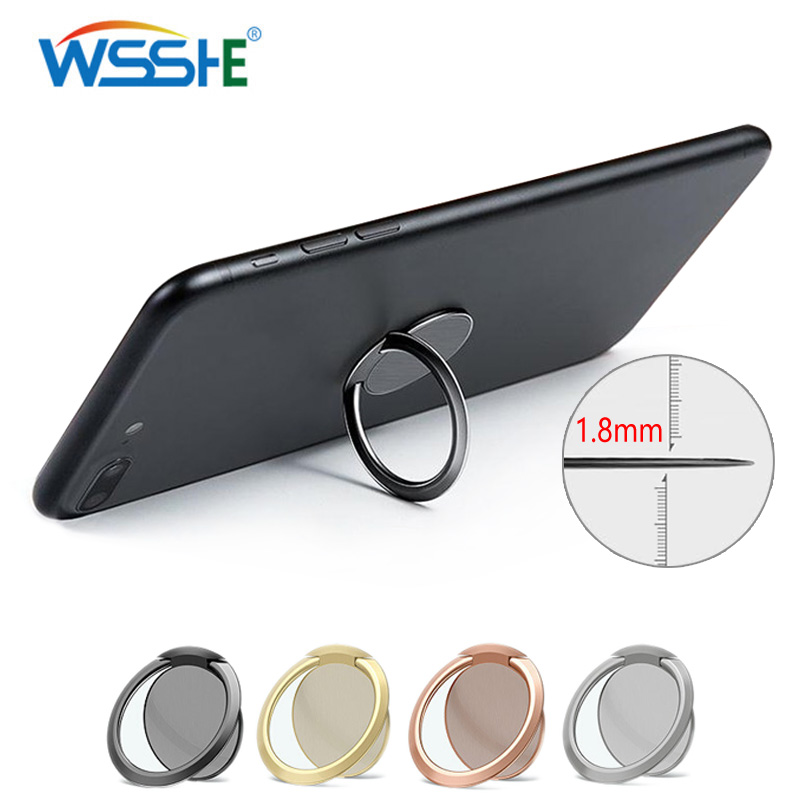 Ultra-thin Mobile Phone Finger Ring Holder Rotatable Smartphone Stand Holder For Metal Car Mount Stand Universal Grip Phone Ring