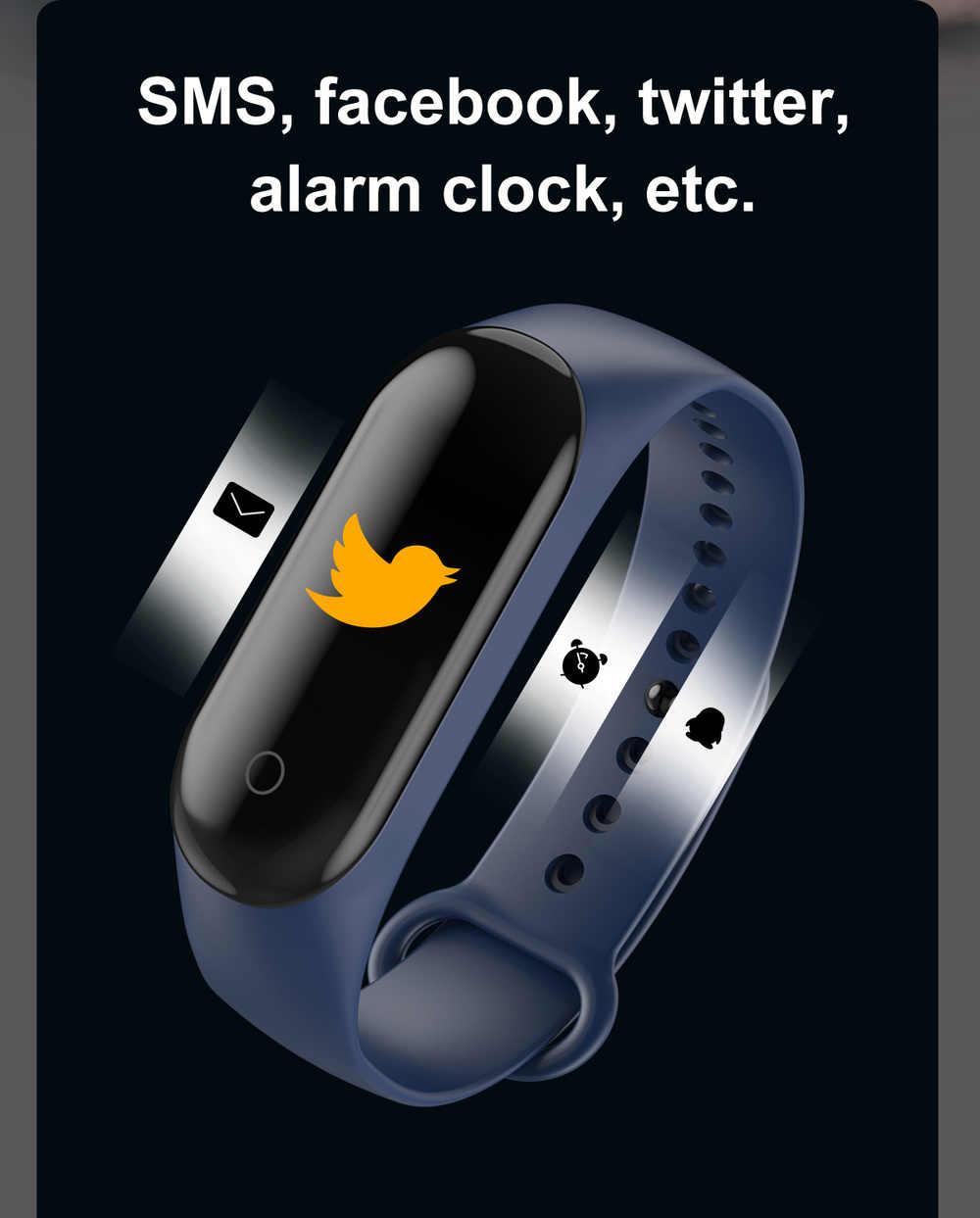 M4 חכם שעון IP67 Smartwatch לחץ דם קצב לב צג נשים גברים שינה גשש כושר ספורט שעון מיקרו USB טעינה