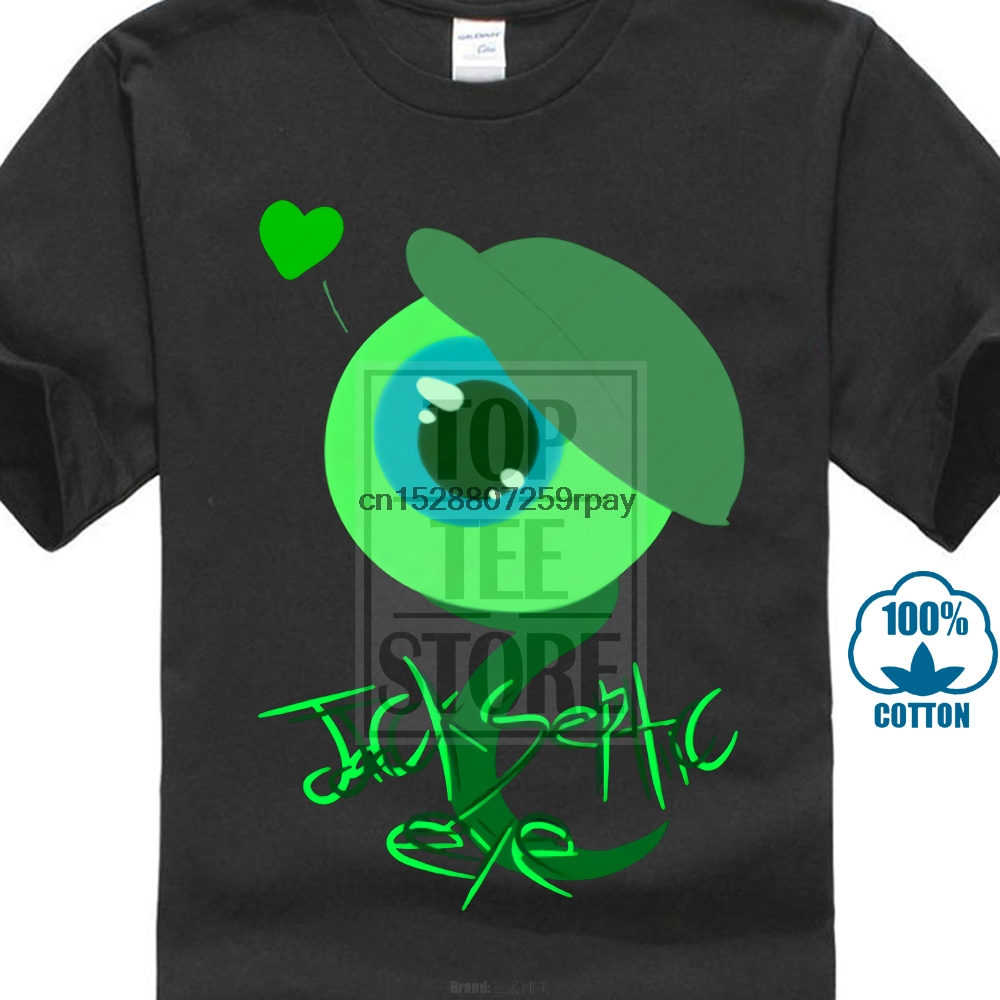 A Septic Eye us $6.99  new jacksepticeye youtuber black t shirt jack septic eye video  youtube from us-in t-shirts from men's clothing on aliexpress