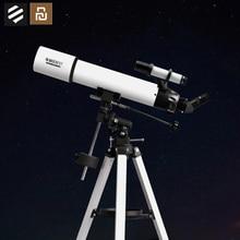 Youpin BEEBEST profesyonel astronomik teleskop Stargazing 90mm yüksek büyütme HD bağlayın telefon fotoğraf çekmek
