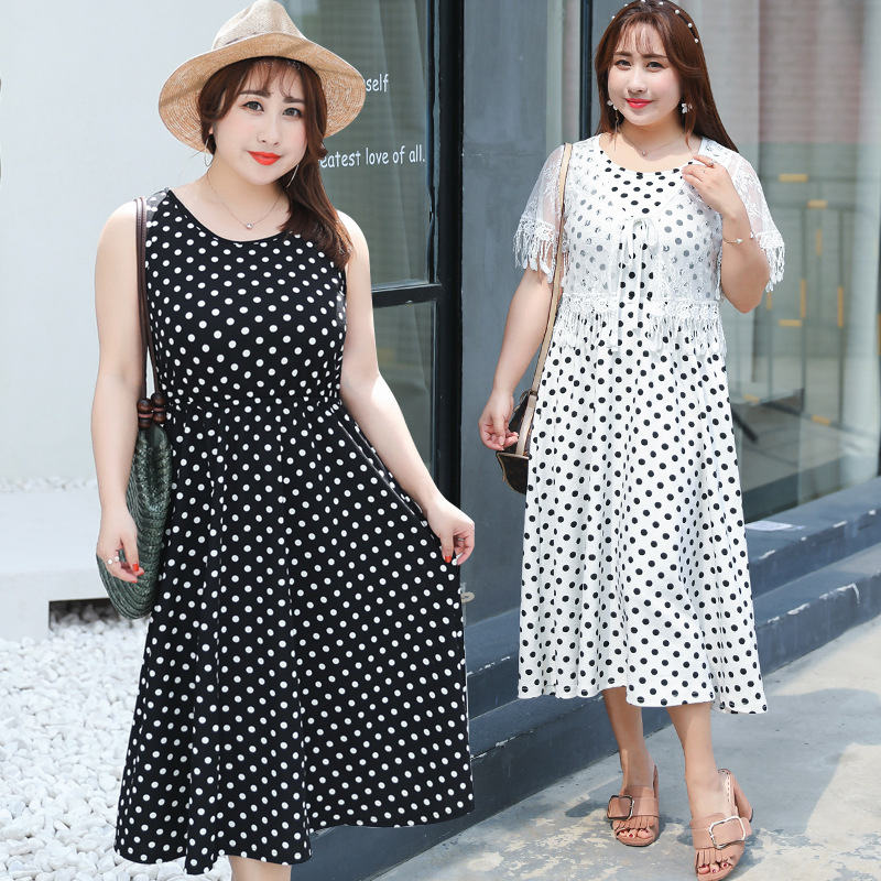 Direct Supply Large GIRL'S Plus-sized 2018 Summer Wear New Style Vest Full Body Dress A056