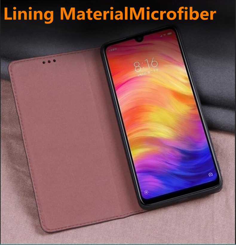 Image 3 - Natural genuine leather ultra thin case for Xiaomi Mi A3/Xiaomi  Mi A2/Xiaomi Mi A1 flip case leather cover standing phone bagFlip  Cases