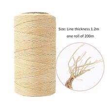 200 м вощеная нить 150D плоская нить для шитья DIY изделия ручной работы из кожи для DIY инструмент для рукоделия ручная строчка