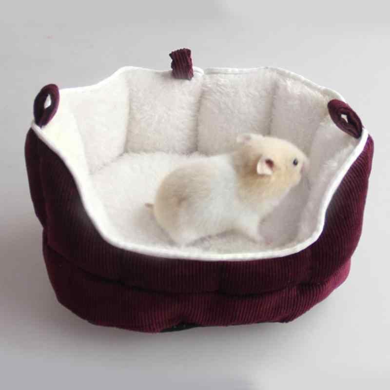 Lavável Cama Casa Hamster Cobaia Pequena Casa Lavável Inverno Quente Coelho Hamster Esquilo Animal Preá Ninho Pet Sofá