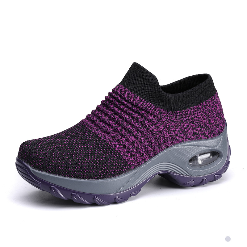 Running Shoes Spring 2020 New Ladies Mesh Shake Shoes Lightweight Non-lacing Overshoes Beach Shoes Brand Outdoor Sock Sneakers