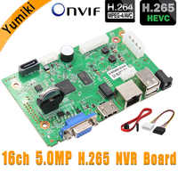 16CH * 5.0MP H.265/H.264 NVR сеть Vidoe рекордер DVR плата для ip-камеры с SATA линии ONVIF VMS P6Spro