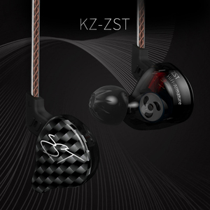 Image 5 - AK Original KZ ZST Colorful BA+DD In Ear Earphone Hybrid Headset HIFI Bass Noise Cancelling Earbuds With Mic Replaced Cable ZSN