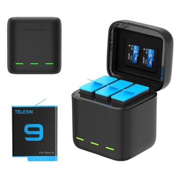 GoPro 9 ładowarka inteligentna szybka ładowarka 1750mAh akumulator litowo-jonowy do GoPro Hero 9 akcesoria do kamer sportowych tanie i dobre opinie Jeebel Gopro Hero 9 Black CN (pochodzenie) Action Camera Akcesoria Zestawy Pakiet 1 Z tworzywa sztucznego Standard Battery