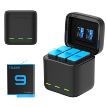 GoPro 9 Battery Charger Smart Fast Charging Case 1750mAh Li-ion Battery Storage Box For GoPro Hero 9 Sport Camera Accessories
