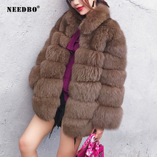 NEEDBO Faux Fur Coat Women Teddy Jacket Streetwear Autumn Winter Warm Outerwear Female Fluffy jacket