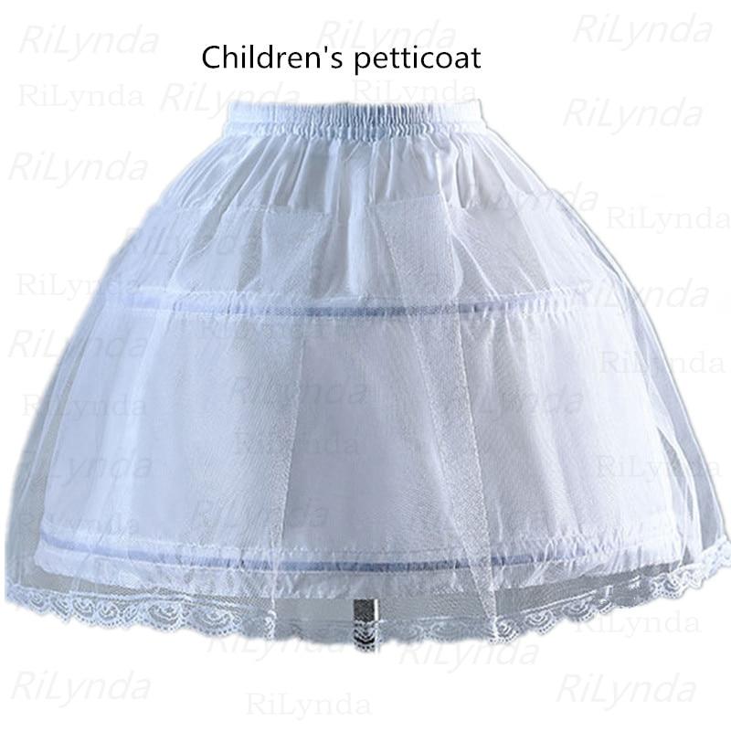 NEW Kids Petticoats for Flower Girls Dresses Little Girls Crinoline 2 Hoop Skirt Petticoat Lolita Skirt Underskirt Vestido De No