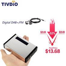 FM RDS radyo cep dijital DAB alıcısı taşınabilir DAB +/DAB radyo alıcısı + kulaklık TIVDIO T101 F9204D