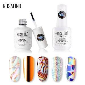 Комплект гель-лаков для ногтей ROSALIND, Набор стикеров для маникюра и дизайна ногтей, Базовый Гель-лак, верхнее покрытие, Лаки