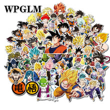 100Pcs/lot Anime Dragon Ball Stickers Super Saiyan Goku Decal for Snowboard Luggage Car Fridge Laptop Sticker