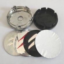 4 pces 56mm 60mm centro da roda do carro tampa emblema à prova de poeira cobre emblema etiqueta do carro estilo acessórios