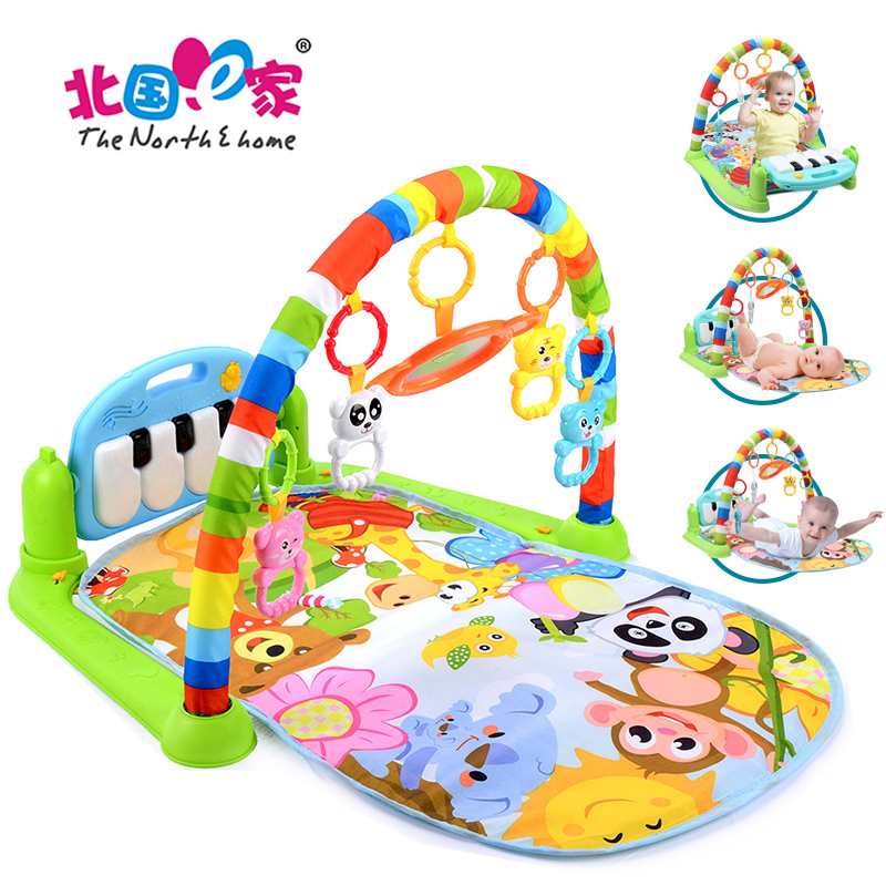 New Baby Music Rack Play Mat Kid Rug Puzzle Toy Carpet Piano Keyboard Infant Playmat Early Education Gym Crawling Baby Gift Toys