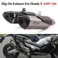2019 New Full System Motorcycle Exhaust Muffler Modified Front Mid Link Pipe Tube Header For Honda X ADV 750 XADV750 ADV Slip On