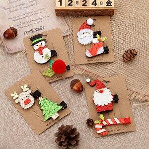 Hair Accessories For Girls Lot Baby Kids Girl Christmas Tree Hairpin Lovely Cartoon Hair Card Delicate Headdress Headwear Set