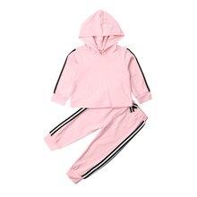 купить Autumn Toddler Baby Girls Clothes Hooded Long Sleeve T-shirt + Pants Outfits Clothing Sets по цене 272.25 рублей