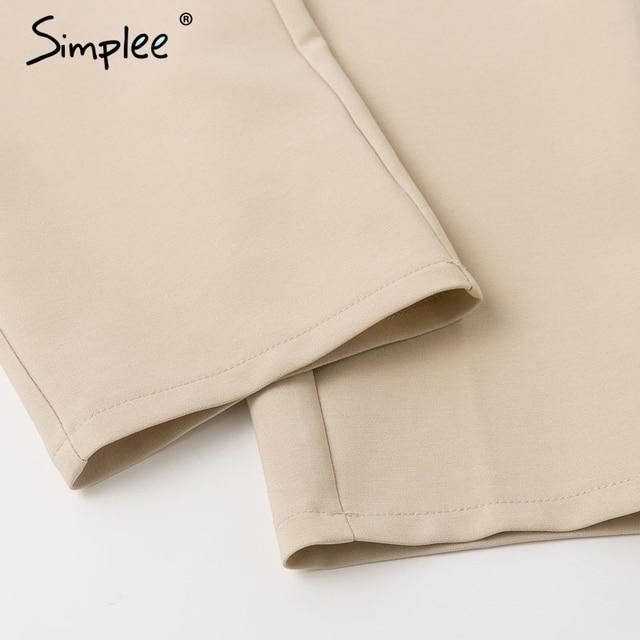 Simplee Solid casual harem pants female trousers High waist office ladies blazer suit pants Loose Ankle-length women pants 2019 6