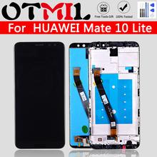 OTMIL AAAA jakość 5 9 #8222 dla HUAWEI Mate 10 Lite wyświetlacz LCD ekran dotykowy z ramką Digitizer dla Nova 2i RNE-L21 wymiana tanie tanio CN (pochodzenie) Ekran pojemnościowy 640x480 3 Nokia LCD i ekran dotykowy Digitizer Używane