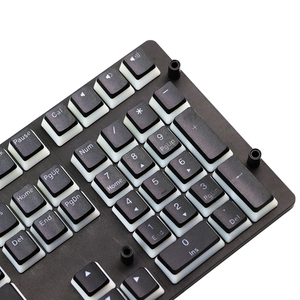 Image 4 - プディングpbt doubleshotためキーキャップバックライトキーキャップミルク黒コルセア機銃掃射K65 K70 ロジクールG710 + メカニカルキーボードのキーキャップ