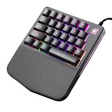 New Arrival Wired USB Backlight One Hand Keyboard Palm Rest Gaming Pad for Windows Osx