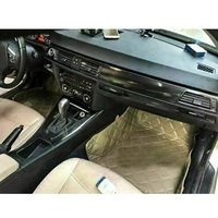5D wnętrze błyszczący powłoka z włókna węglowego tapicerka naklejka dla BMW serii 3 E90 2005 2012 wewnętrzny profil dekoracji w Listwy wewnętrzne od Samochody i motocykle na