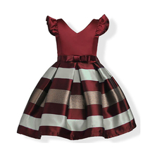 Formal Wedding Party Dresses Baby Girls Striped Dress For Girls Kids Princess Christmas Dress up costume Children Girl Clothing girls dress summe children s clothing party princess baby kids girls clothing lace wedding dresses prom long dress teen costume