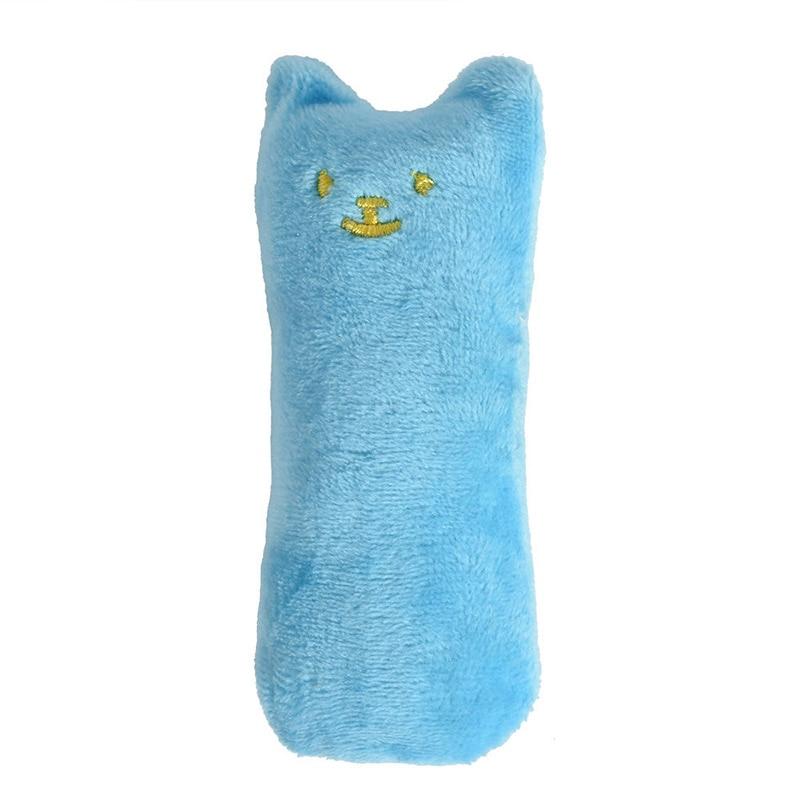 Модные мини-игрушки для шлифовки зубов, кошачья мята, забавный интерактивный плюшевый Кот, игрушка для питомца, котенок, жевательные вокальные когти, Когти для кошек - Цвет: Sky Blue