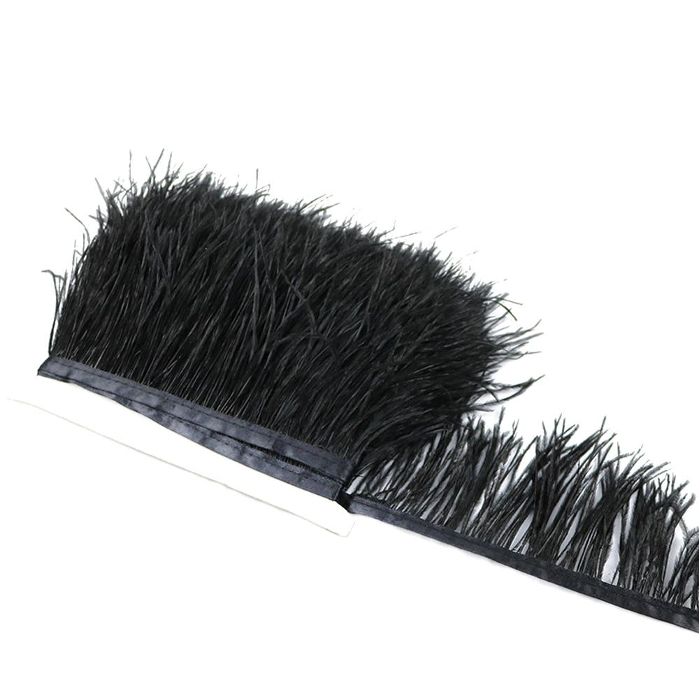 1 метр 32 цвета обрезки из натуральных перьев страуса высота 8-10 см Перья ленты для DIY свадьба на праздник, украшение для платья Ремесло