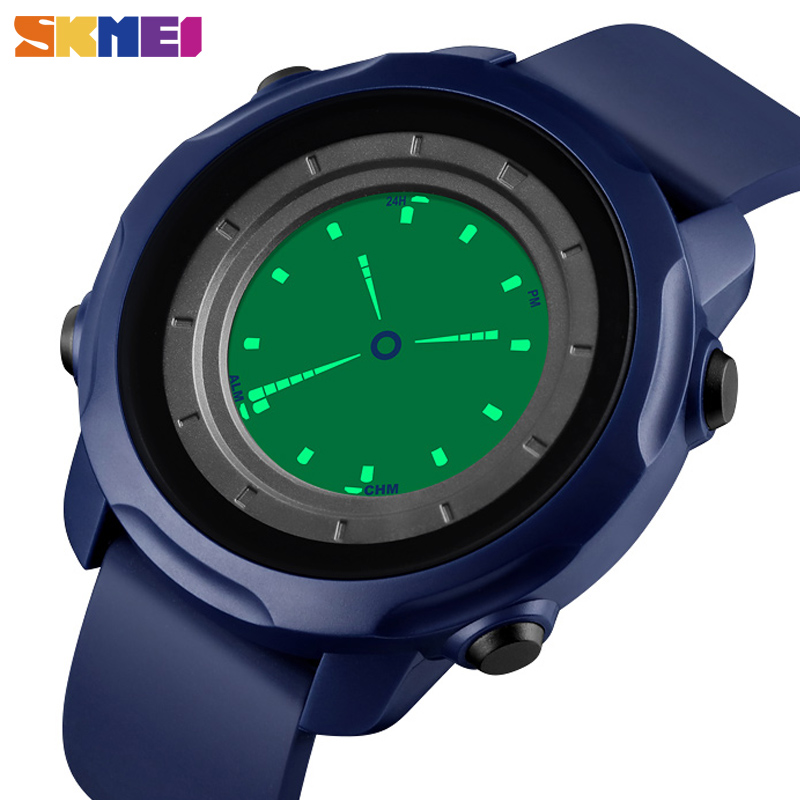 SKMEI Fitness Watches Electronic-Clock Digital Waterproof Creative Men Chrono 2time Reloj