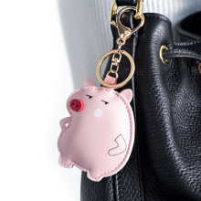 2020 New Cartoon Pig Keychain Cute Leather Cae Key Chain Women Lady Bag Pendant Keyring Lovers Holiday Gifts