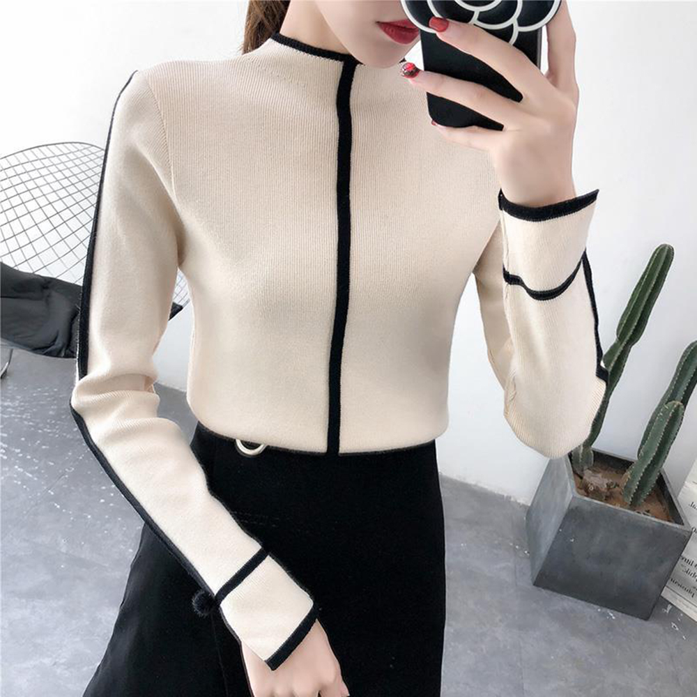 Female Soft Sweater Korean Style Skinny Winter Turtleneck Women Bodycon Basic Pullovers Long Sleeve Pull Femme Coat Female Top