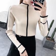 Female Soft Sweater Korean Style Skinny Winter Turtleneck Women Bodycon Basic Pu