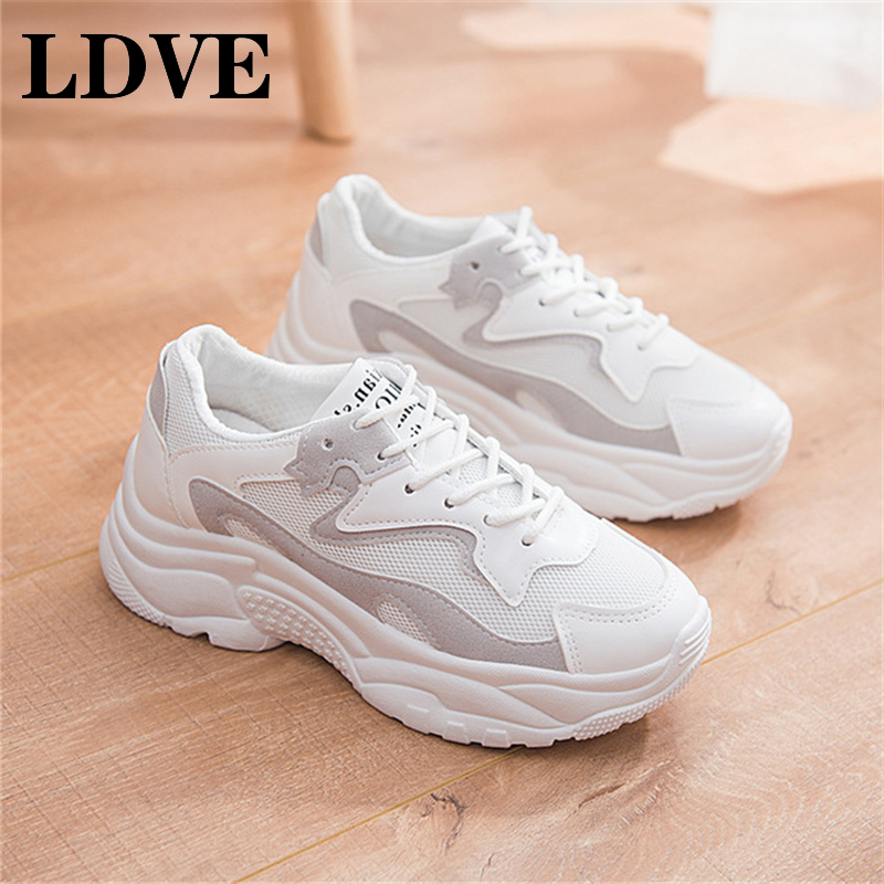 TXJ New 2019 Fashion Women Casual Shoes Suede Leather Platform Sneakers Ladies White Trainers Chaussure Femme