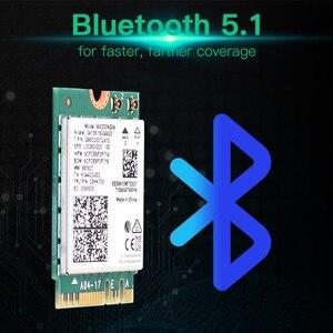 Image 3 - Carte Wifi 6 double bande, 2400 mb/s, NGFF M.2, avec Bluetooth 5.0, 802.11ac/ax, ensemble dantennes Intel AX200NGW, sans fil