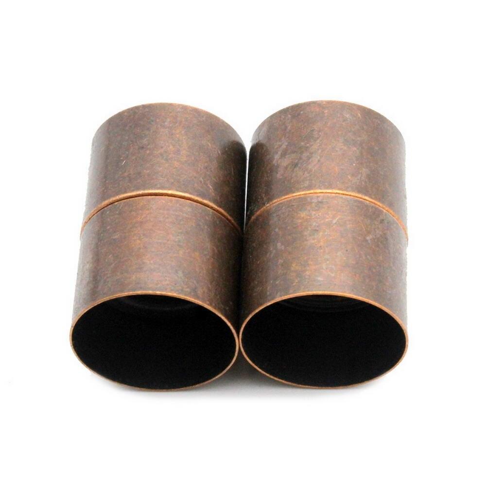 2 комплекта 18 мм Внутреннее отверстие Античная Медная цилиндрическая магнитная застежка, большой сильный магнит крепежные Разъемы Diy для изготовления браслетов|magnetic clasps|clasp magneticantique copper | АлиЭкспресс